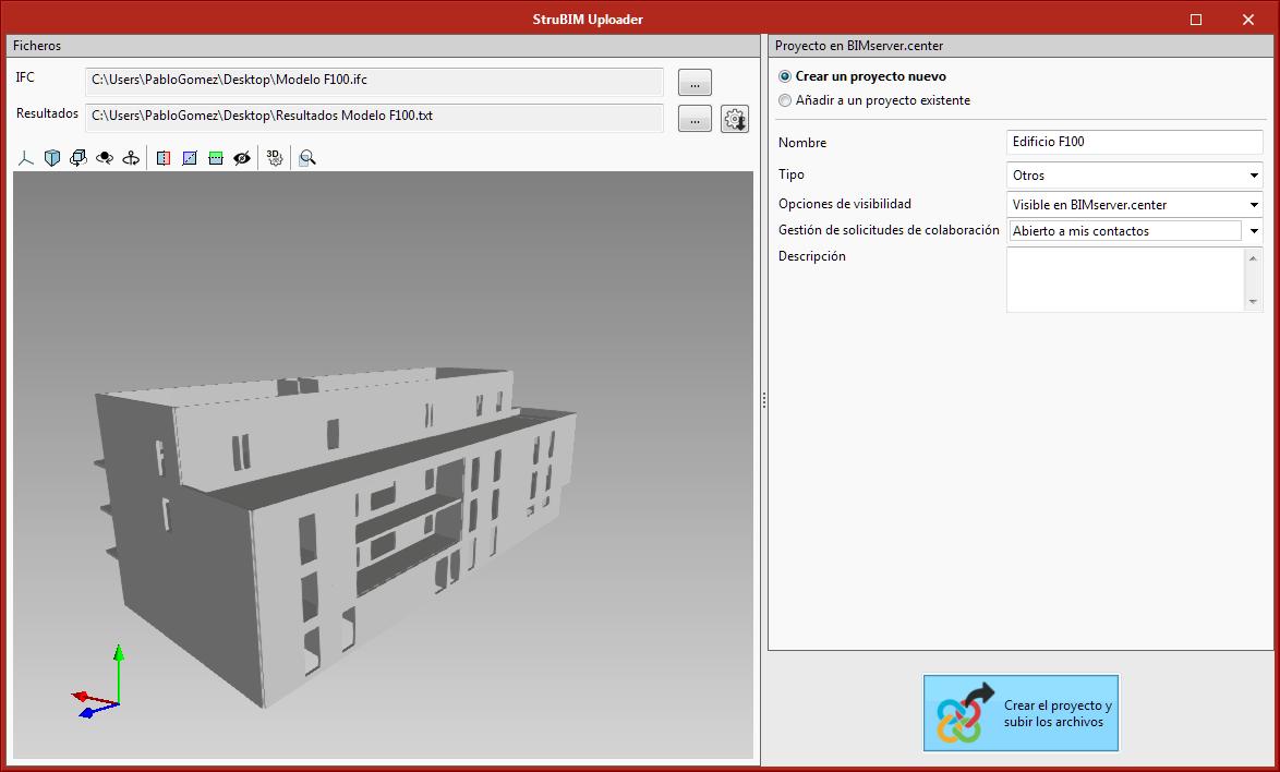 StruBIM Uploader. Modelos estruturais compatíveis
