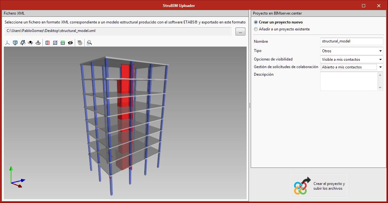 StruBIM Uploader. Incorporación de modelos estructurales